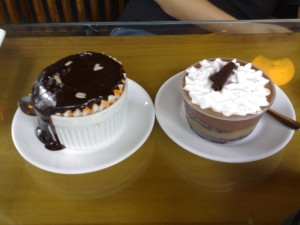Warm Choco Tablea and Capuccino Mousse