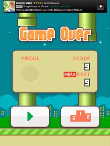my Flappy Bird high score